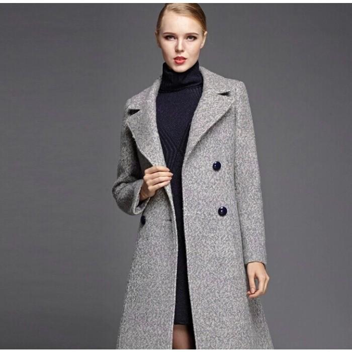 manteau laine femme gris laine et tricot. Black Bedroom Furniture Sets. Home Design Ideas