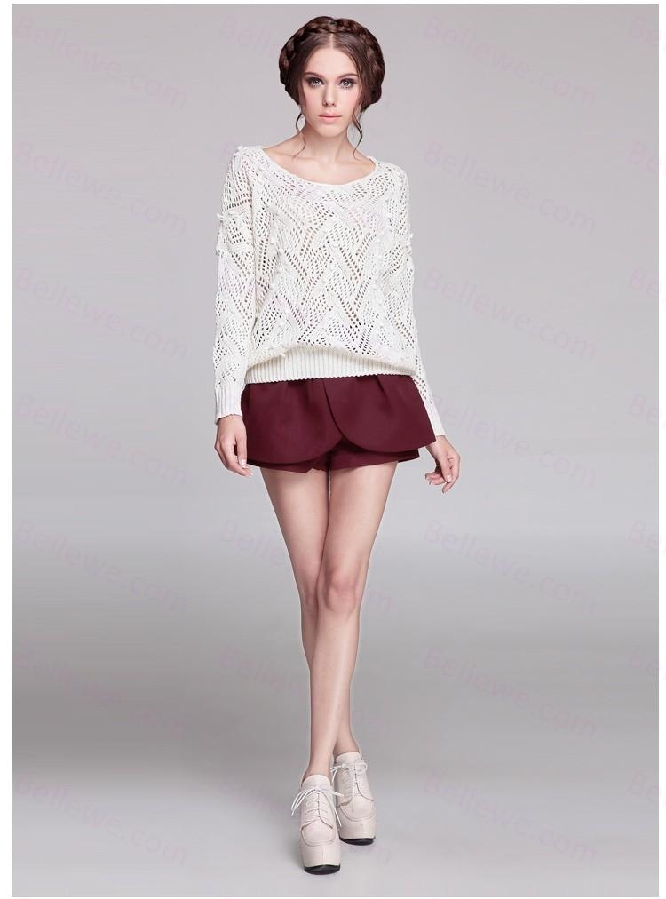 pull en laine blanc femme laine et tricot. Black Bedroom Furniture Sets. Home Design Ideas