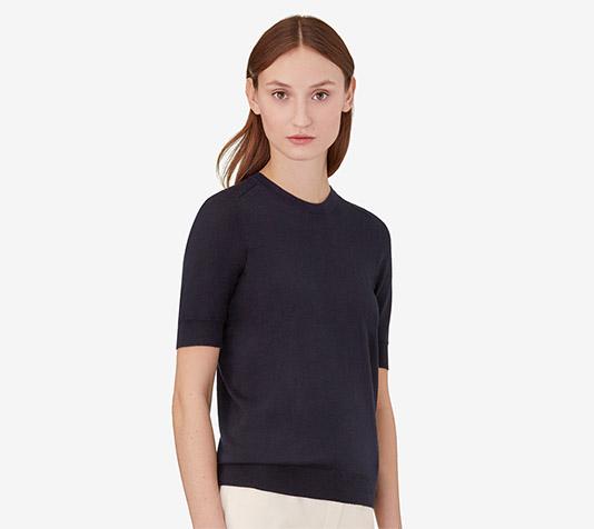 67281ccbb96 Pull manches courtes femme - Laine et tricot