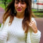Gilet grosse maille blanc