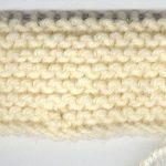 Point mousse en tricot