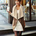 Gros gilet en laine femme
