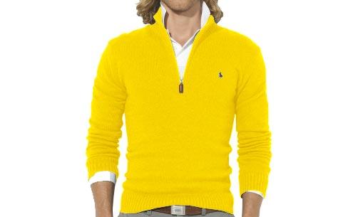 Très Pull jaune homme - Laine et tricot GC51