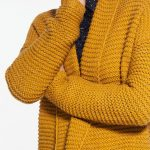 Gilet femme moutarde