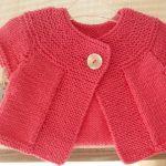Modele tricot gilet manche courte femme