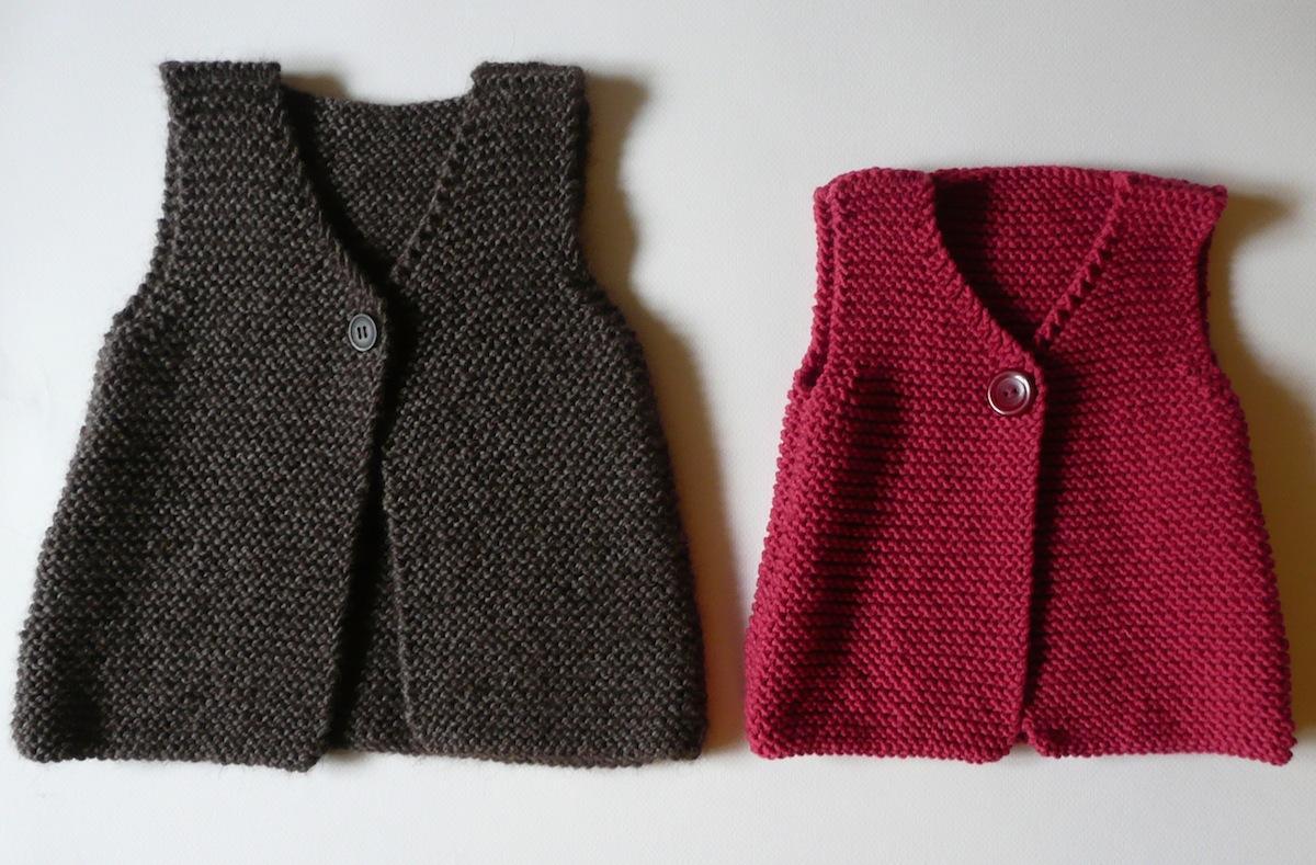Modele gilet femme sans manches tricot laine et tricot - Tricot assembler les manches ...