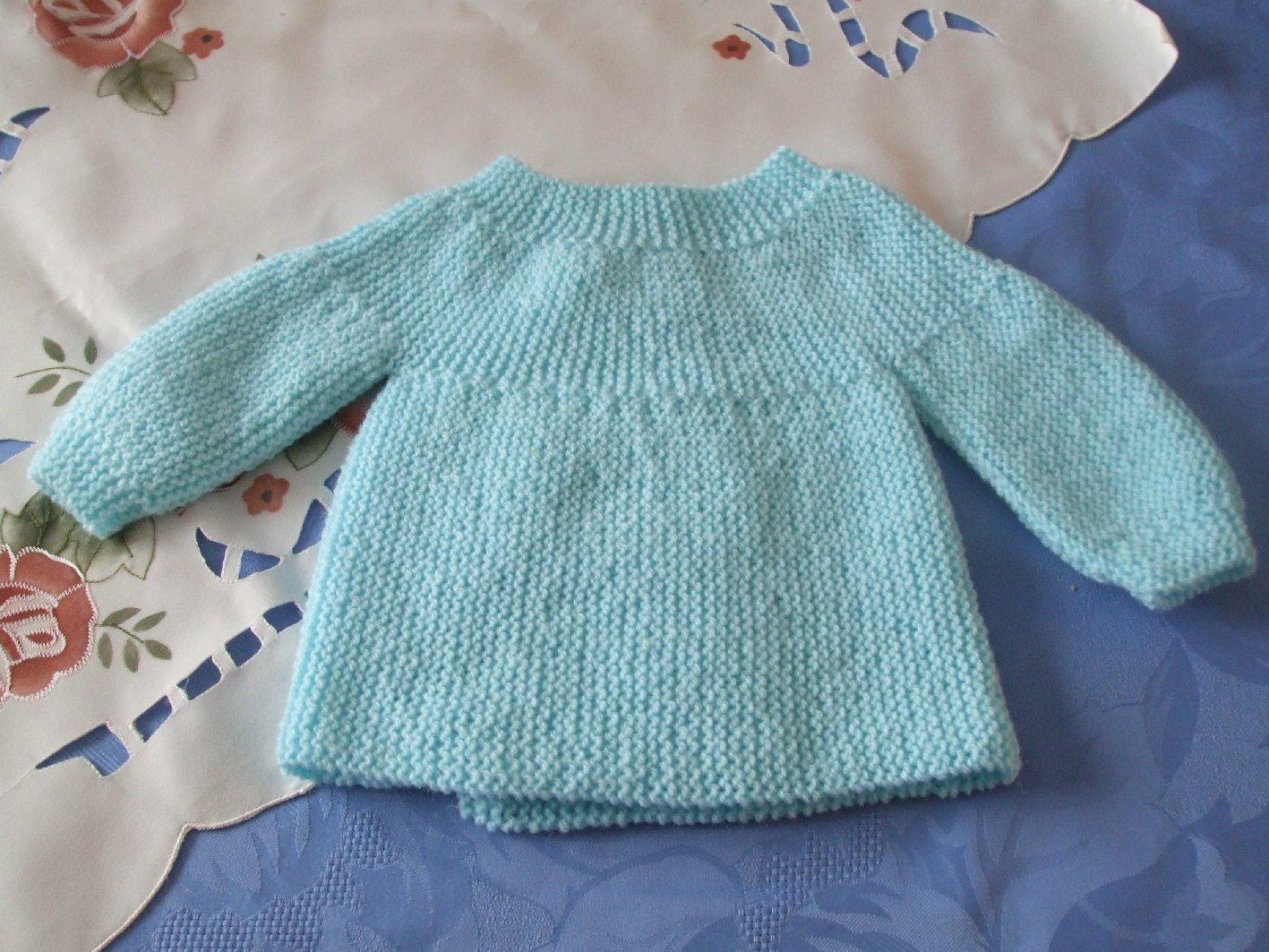 tricoter gilet bebe naissance
