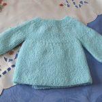 Modèle brassière naissance tricot