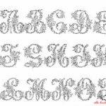 Alphabet à broder gratuit