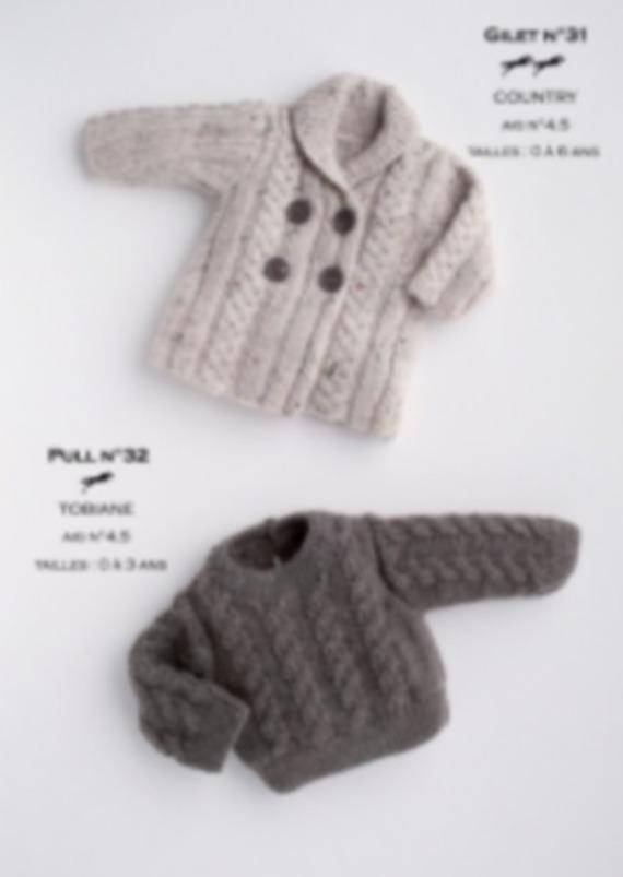 b497a7a88567 Pull bébé tricot - Laine et tricot