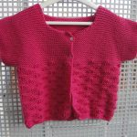 Gilet fille tricot facile