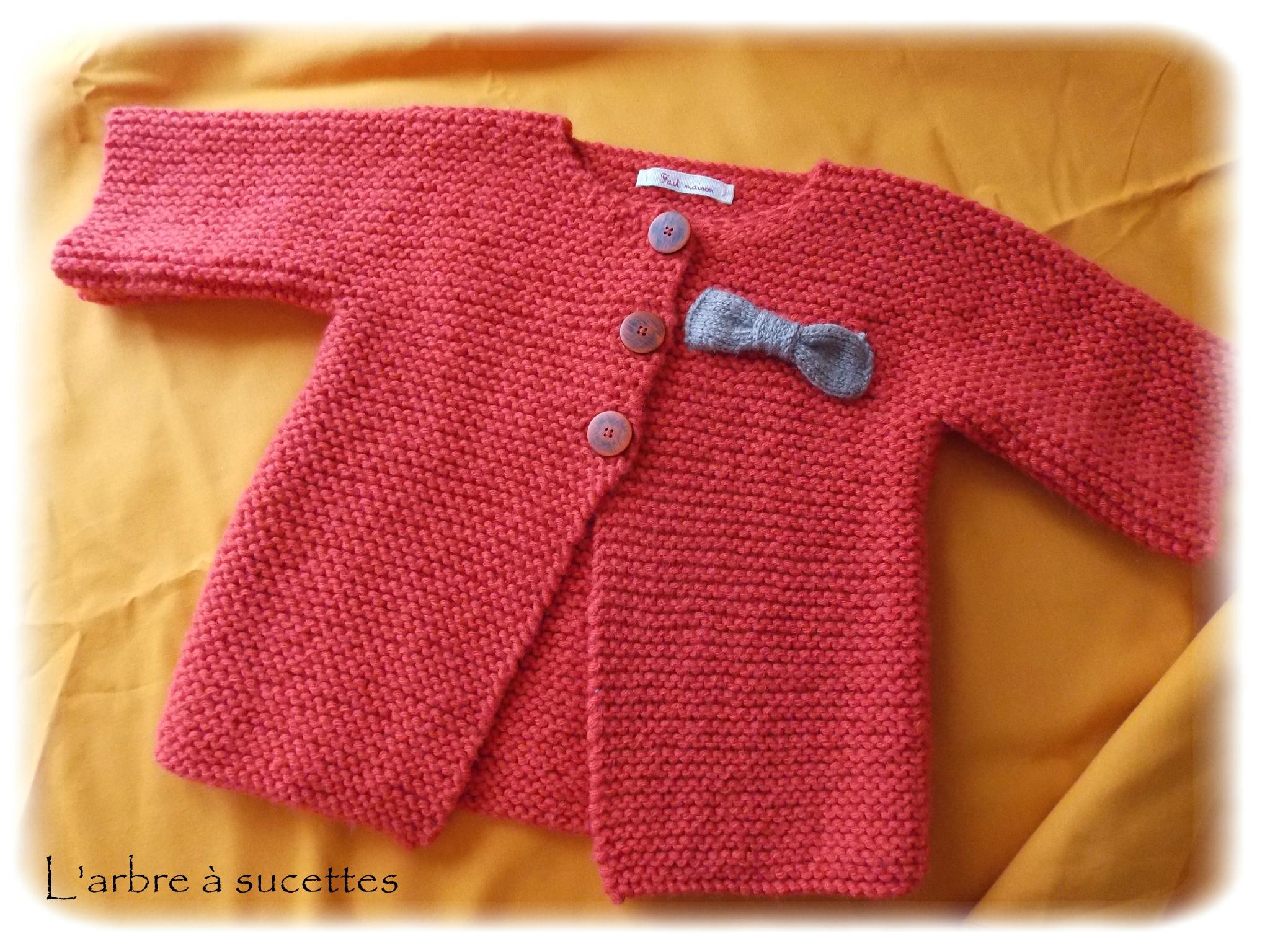Très Veste tricot bébé fille - Laine et tricot RX55