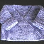 Brassière nouveau né tricot