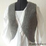 Modele de gilet sans manche a tricoter pour femme