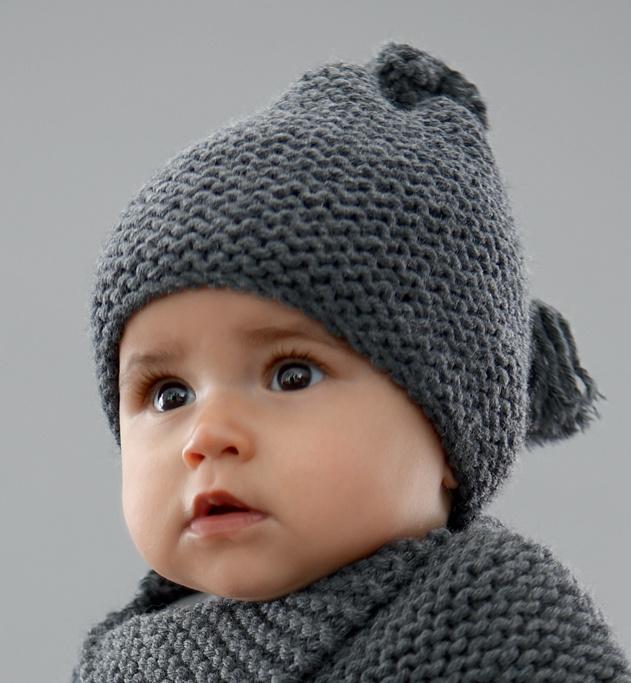 Modele bonnet bebe tricot point mousse - Laine et tricot 57775b28464