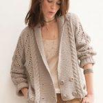 Veste en tricot femme