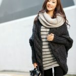 Gilet laine femme long