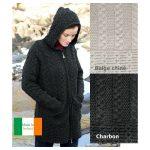 Gilet femme long en laine