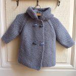 Manteau a capuche bebe tricot