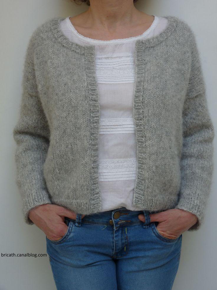 Comment tricoter un gilet laine et tricot - Apprendre a tricoter gratuitement ...