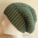 Modèle tricot bonnet femme point mousse