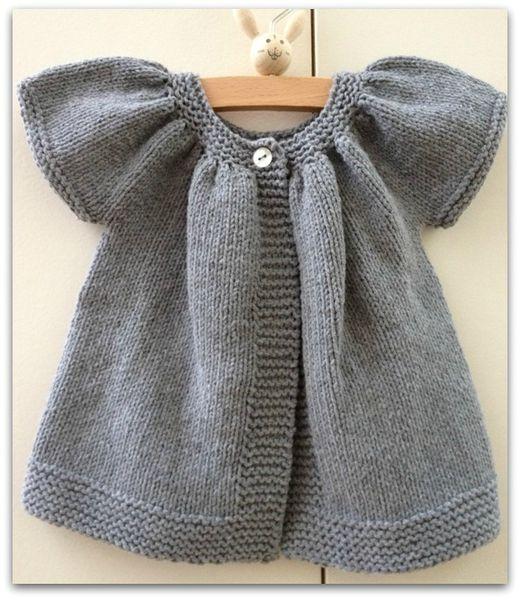 Mod le gratuit tricot b b fille laine et tricot - Modele tricot bebe gratuit debutant ...