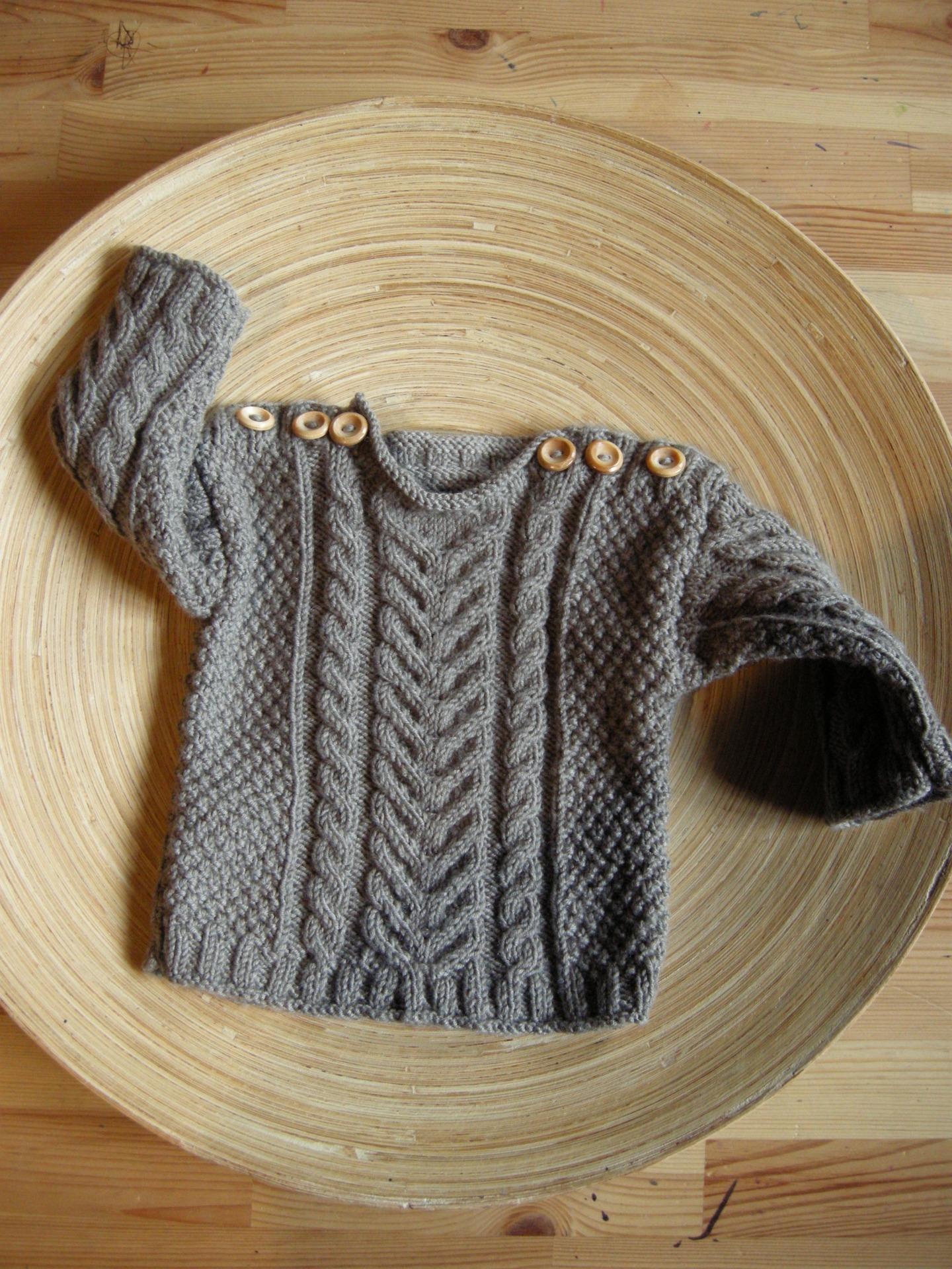 Pull bebe laine - Laine et tricot