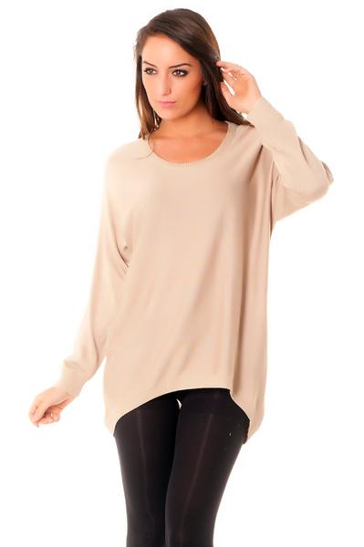 Pull femme large - Laine et tricot