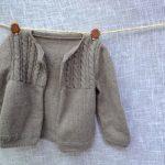 Tricot veste bébé