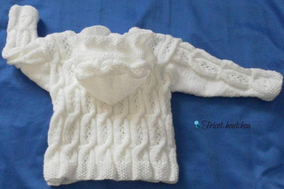 Top Gilet bébé tricot gratuit - Laine et tricot ML86