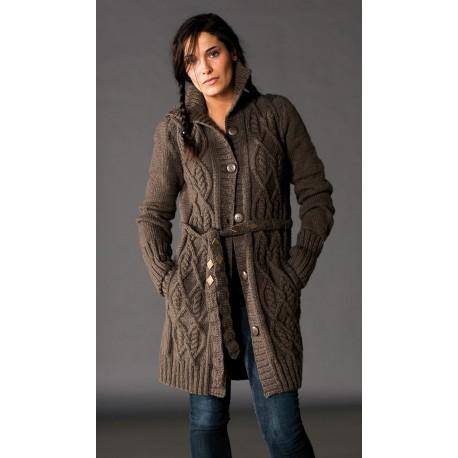 Veste de laine longue femme