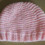 Bonnet bébé tricot point mousse