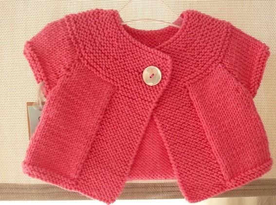 gilet bebe fille tricot