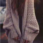 Gilet long grosse maille mode femme