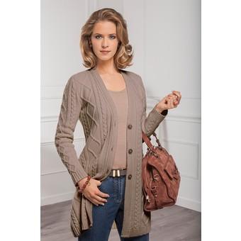 tricoter un gilet en laine pour femme