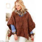 Modele de poncho femme à tricoter gratuit
