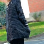 Patron tricot gilet grosse maille