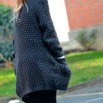 Gilet grosse maille laine femme
