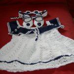 Robe layette à tricoter explications gratuites
