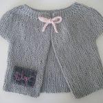 Gilet bébé fille tricot