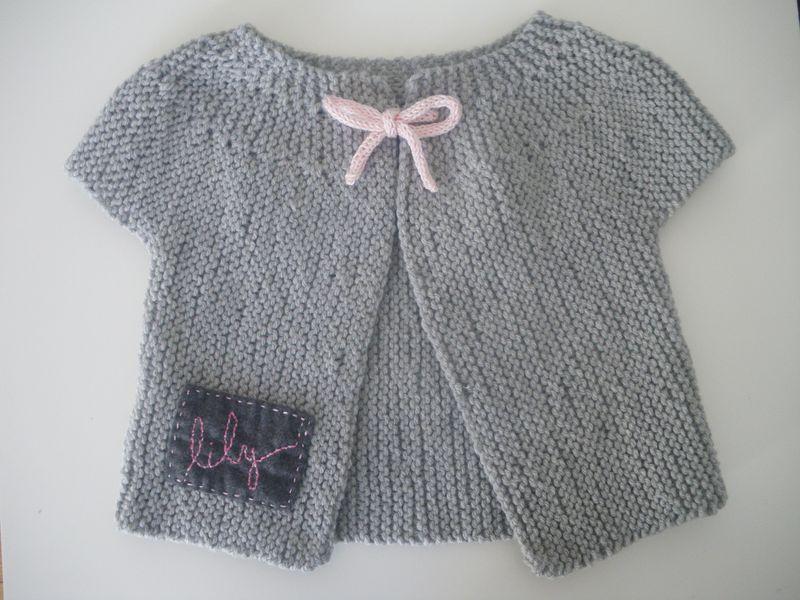 Berühmt Gilet bébé fille tricot - Laine et tricot EQ24