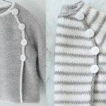 Modèle tricot brassière bébé garçon