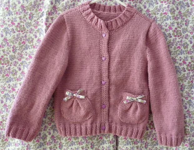 gilet tricot fille 2 ans