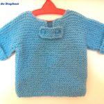 Gilet bébé facile à tricoter