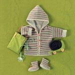Tricoter un gilet a capuche pour bebe