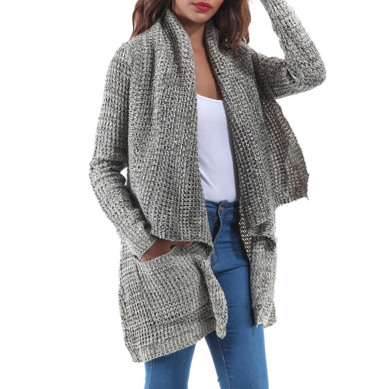 Préférence Gilet laine grosse maille femme - Laine et tricot MW34