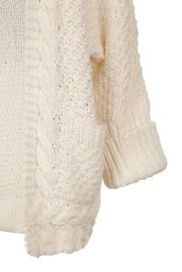 Long gilet en maille laine et tricot - Plaid grosse maille pas cher ...