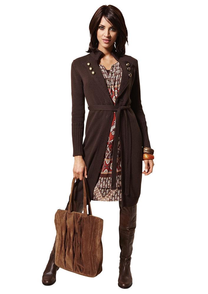gilet long femme original laine et tricot. Black Bedroom Furniture Sets. Home Design Ideas