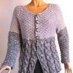 Gilet femme a tricoter