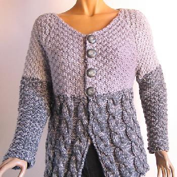 gilet femme tricote main
